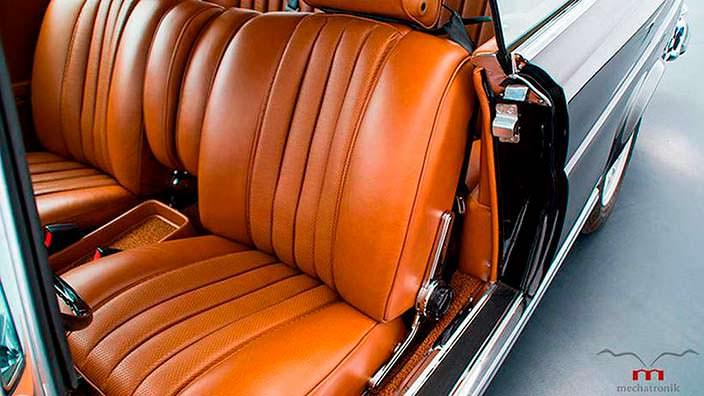 Кожаный салон Mercedes-Benz W111 M-Coupe 1960-х годов