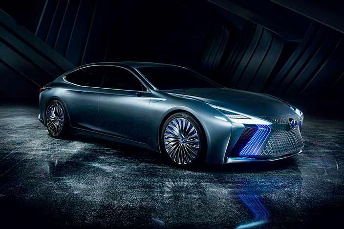 Lexus LS+ Concept. Лазерные фары