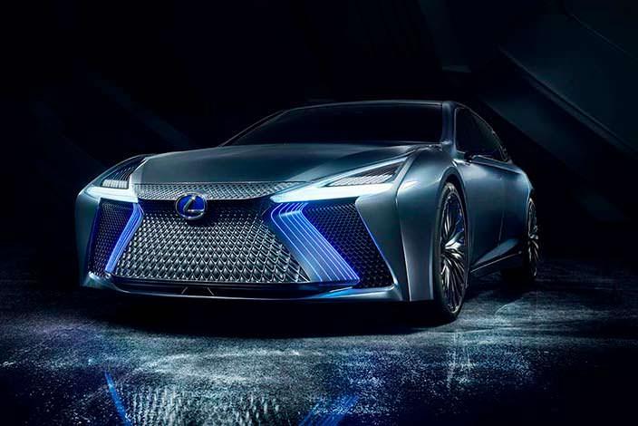 Lexus LS+ Concept. Агрессивная радиаторная решетка