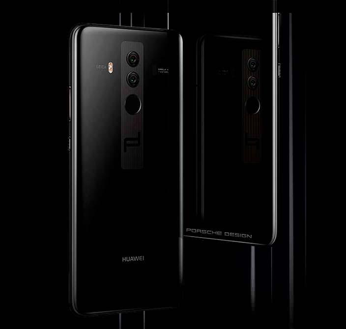 Чёрный смартфон Porsche Design Huawei Mate 10