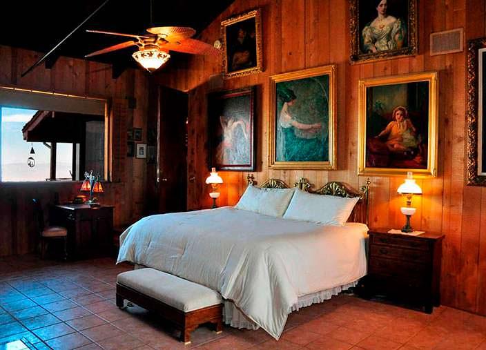 Дизайн спальни в ранчо Фрэнка Синатры 1967 года
