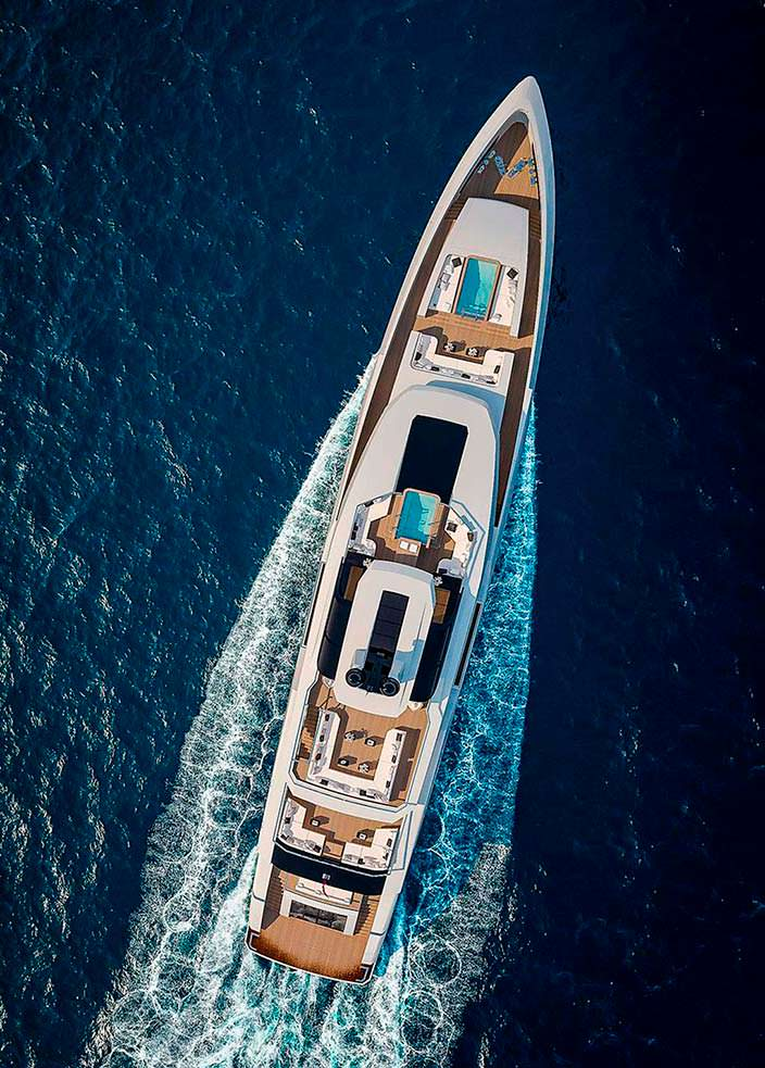 Яхта с двумя бассейнами Sarp Yachts Nacre 55