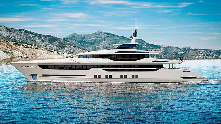 55-метровая алюминиевая яхта Sarp Yachts Nacre 55