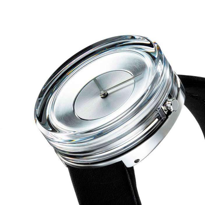 Дизайнерские стеклянные часы унисекс Issey Miyake