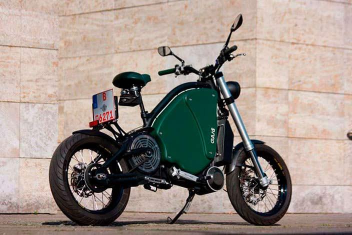 Педальный электромотоцикл The Gulas PI1S