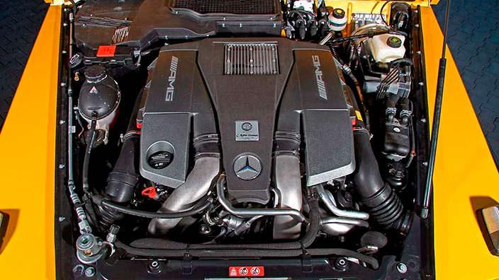 5,5-литровый битурбо двигатель V8 в Mercedes-AMG G63