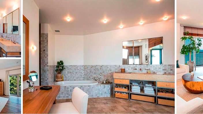Дизайн ванной комнаты виллы Синди Кроуфорд