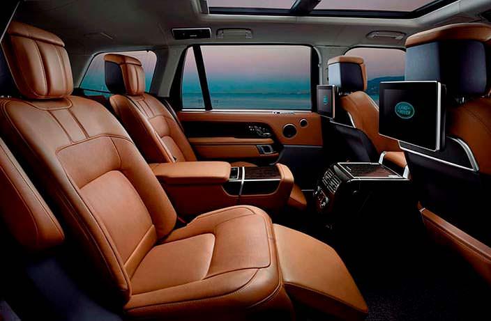 Задние сиденья с массажем в Range Rover 2018