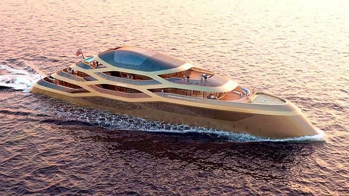 Яхта будущего Benetti Se77antasette