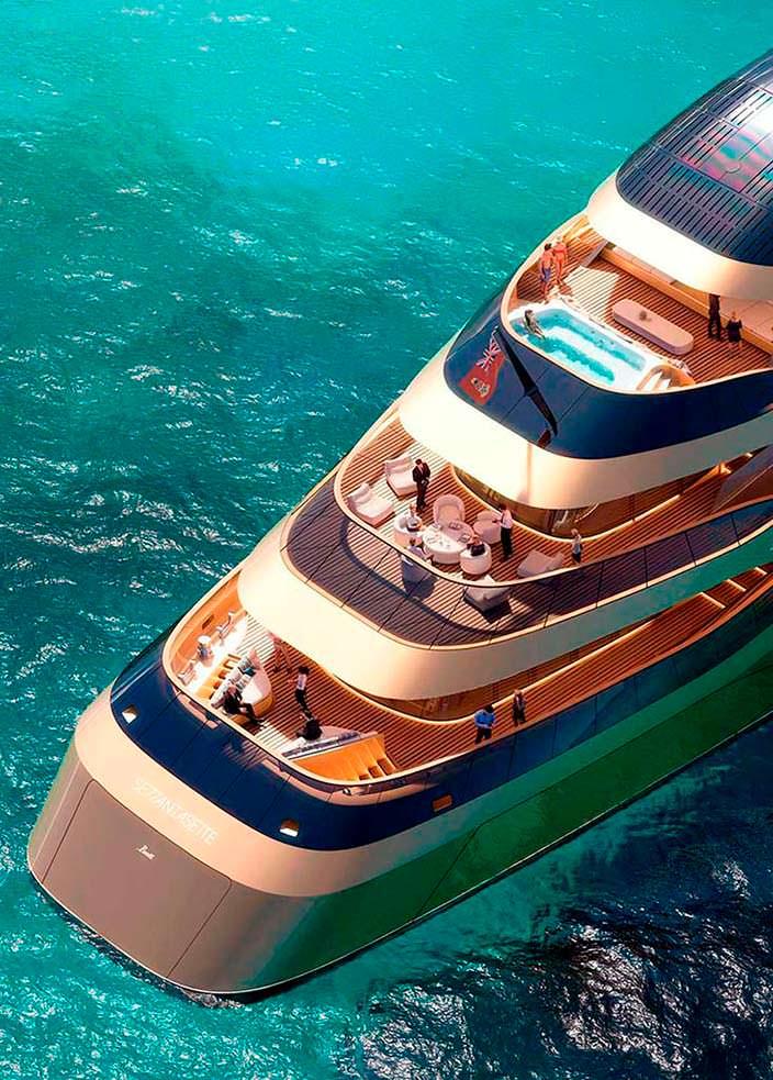 Фантастическая яхта Benetti Se77antasette