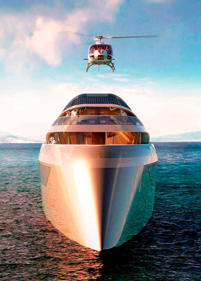 Яхта с вертолетной площадкой Benetti Se77antasette