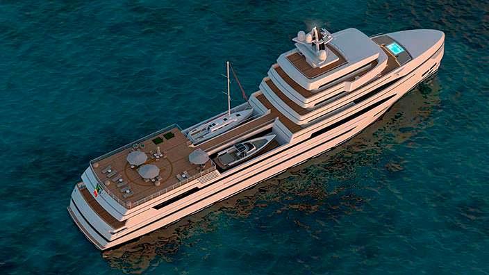 85-метровая суперъяхта Rosetti Marino Group