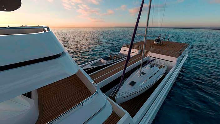 Яхта с гаражом и вертолетной площадкой Rosetti Marino Group