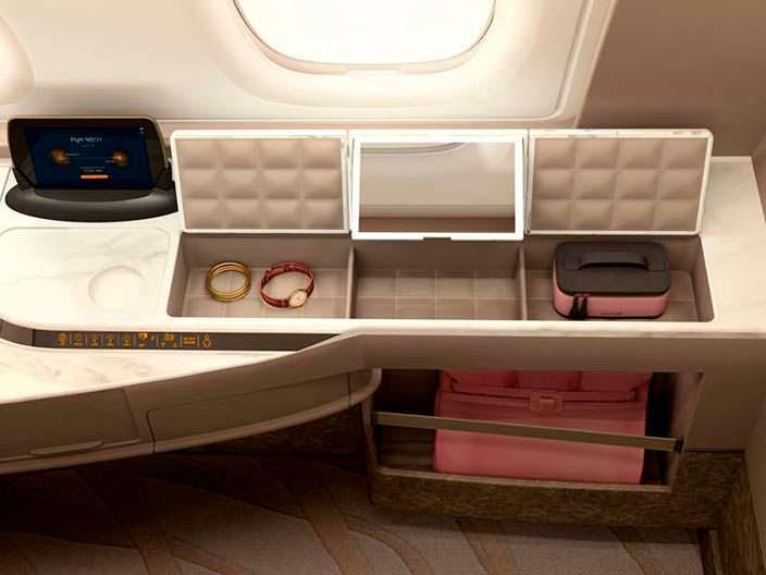 Дизайн люкса в бизнес-классе Airbus A380 от Singapore Airlines