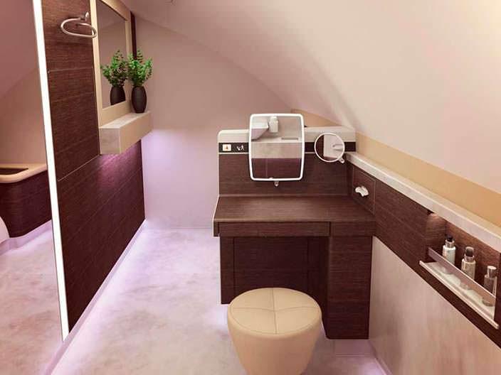Ванная комната в бизнес-классе Airbus A380