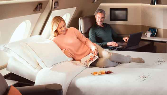 Singapore Airlines запускают Airbus A380 с двуспальными кроватями
