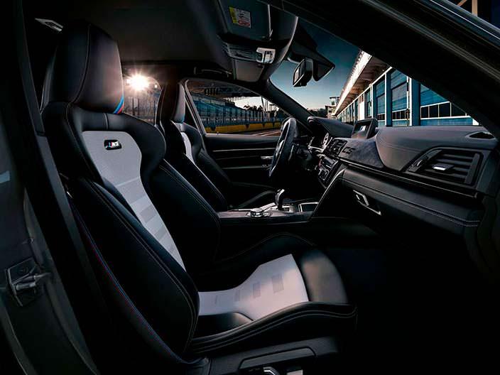 Двухцветные сиденья BMW M3 CS
