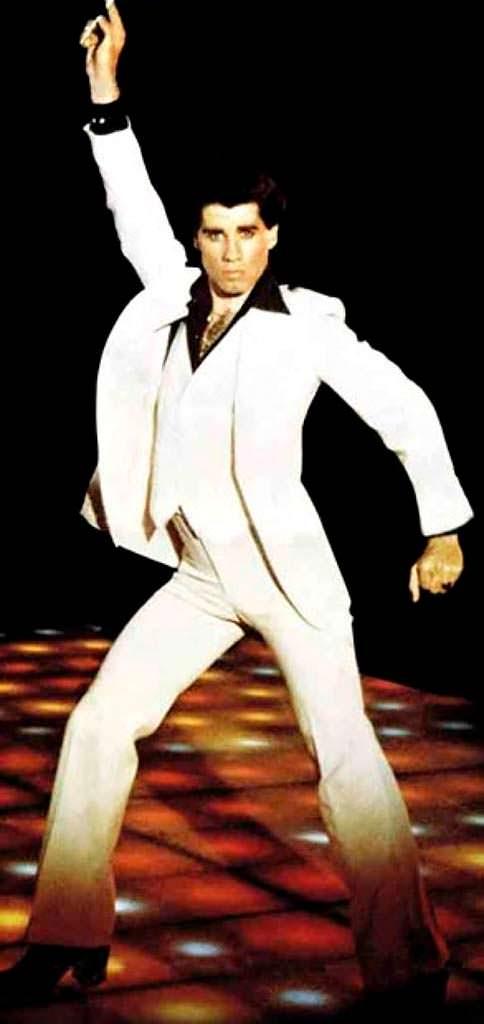 Джон Траволта в роли танцора Тони Манеро. 1977 год