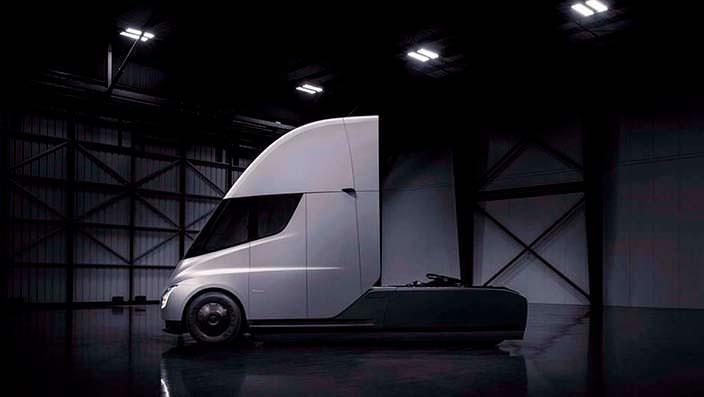 Электрический магистральный тягач Tesla Semi