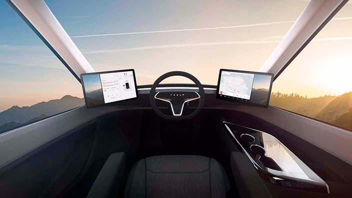 Фото салона грузовика Tesla Semi