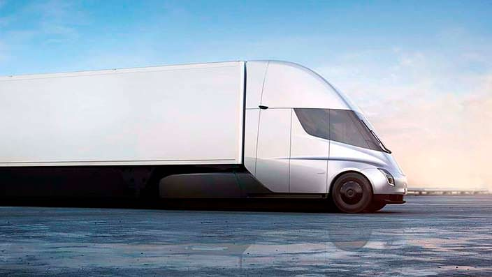 Электрический тягач Tesla Semi