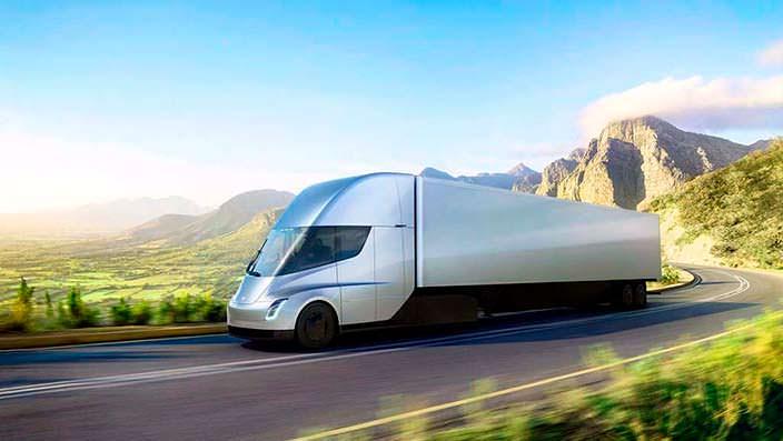 Электрический тягач будущего Tesla Semi