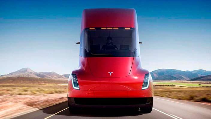 Электро грузовик Tesla Semi