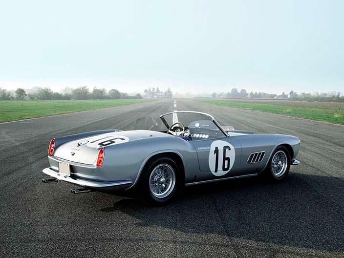 Ferrari 250 GT LWB California. Участница гонок Ле-Мана 1959 г.