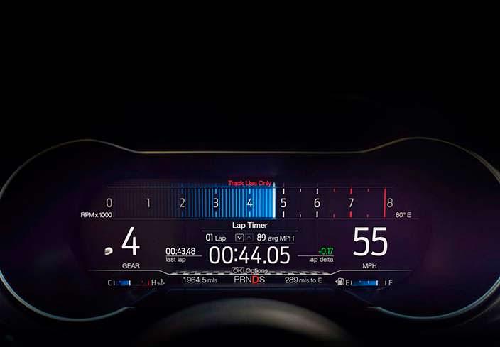 Цифровая приборная панель Ford Mustang 2018