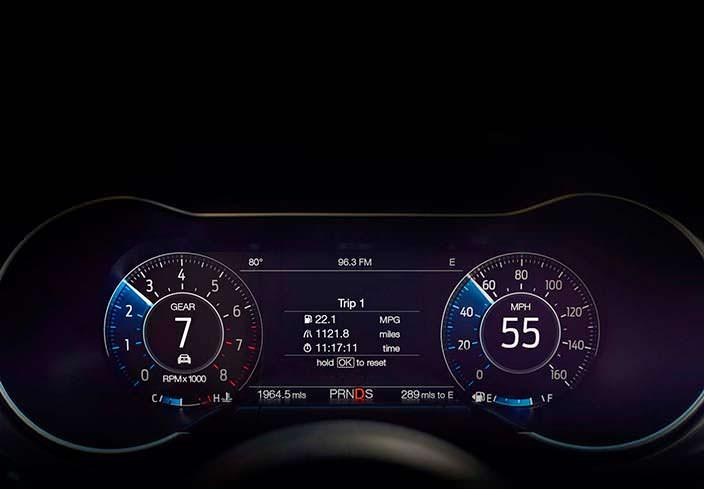 Цифровой кокпит Форд Мустанг рестайлинг