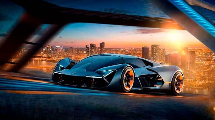 Футуристический суперкар Lamborghini Terzo Millennio
