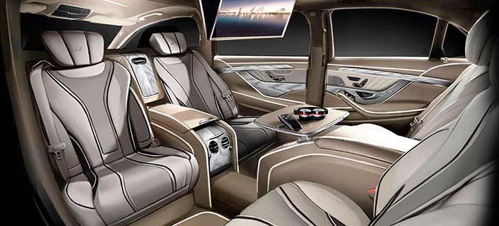 Салон лимузина Мерседес W222 от Ares Atelier