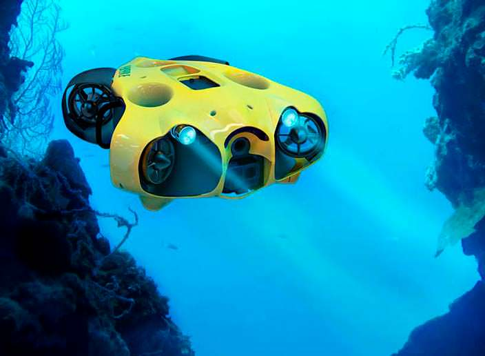 ibubble: поводный дрон с камерой. Глубина до 60 метров