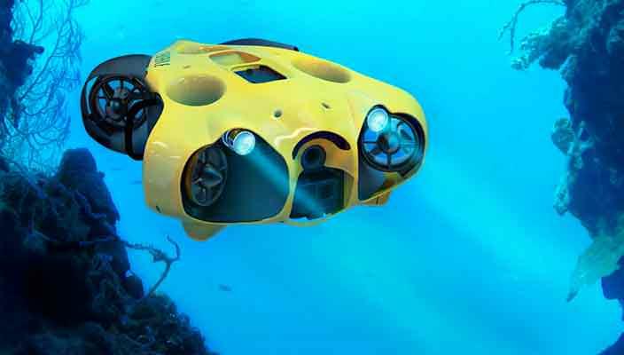 Создан подводный дрон с камерой для дайверских селфи-видео