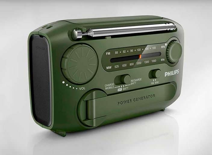 Радио с USB, фонарем и генератором Philips AE1120/00