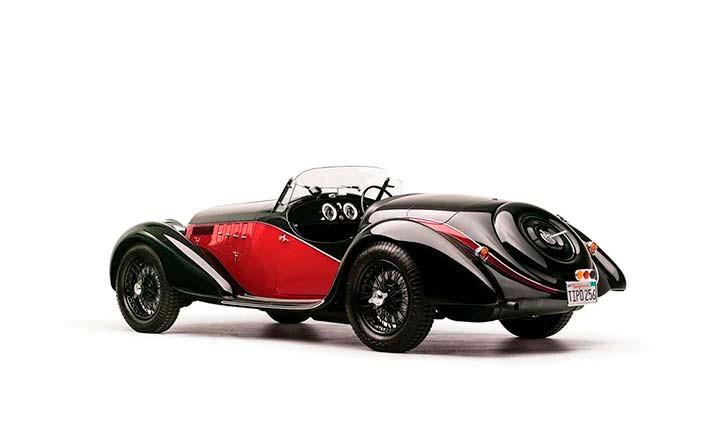 Родстер Alfa Romeo 6C 2500 SS Spider 1942 года выпуска