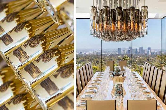 Столовая с панорамой на Лос-Анджелес