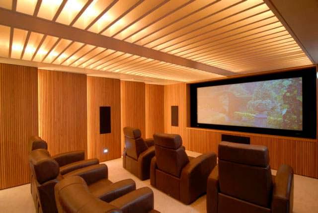 Домашний кинотеатр в квартире Тейлор Свифт