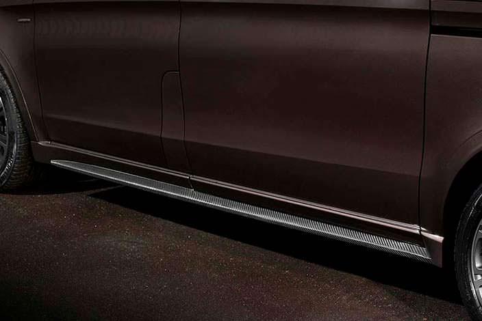 Карбоновые пороги Mercedes-Benz V-Class от TopCar