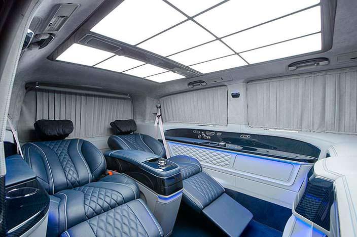 Дневной свет в салоне Mercedes V-Class. Тюнинг TopCar