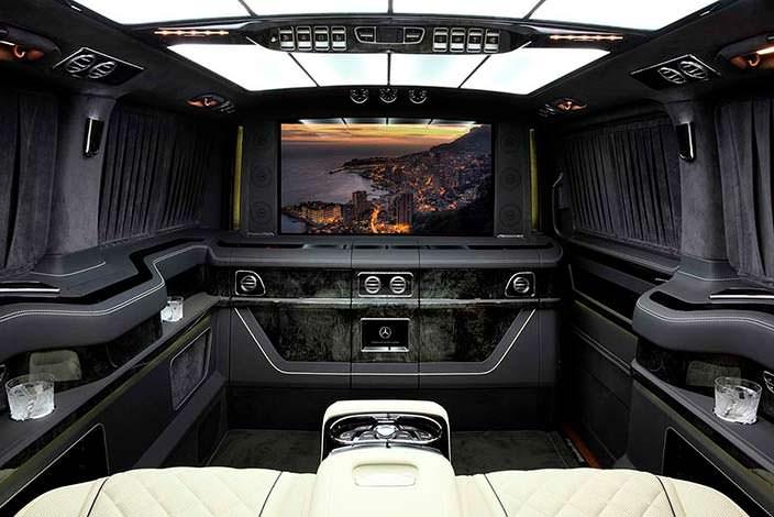 Салон с телевизором Mercedes-Benz V-Class. Тюнинг TopCar