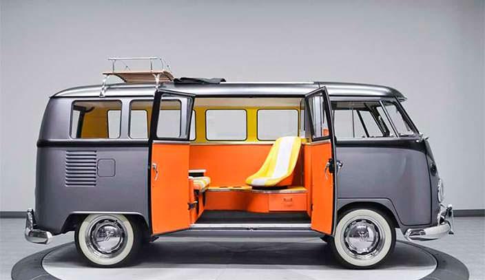 Фургон Volkswagen T1 1967 года в стиле «Назад в будущее»