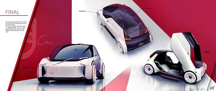 Умный автомобиль будущего с автопилотом Volvo Care Concept