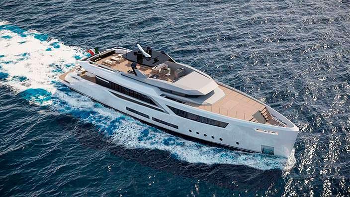 Новая яхта V-Line 38 от Baglietto и Hot Lab