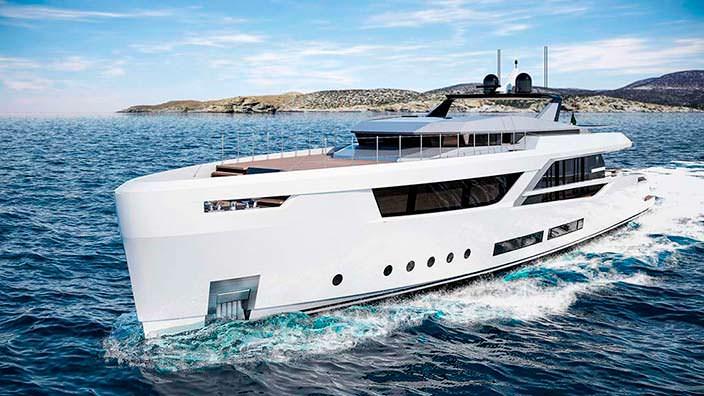 Современная яхта V-Line 38 от Baglietto и Hot Lab