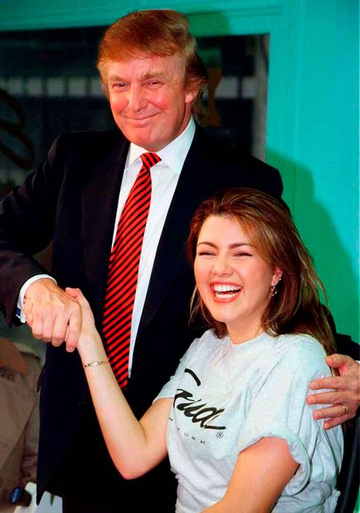 Дональд Трамп и Алисия Мачадо