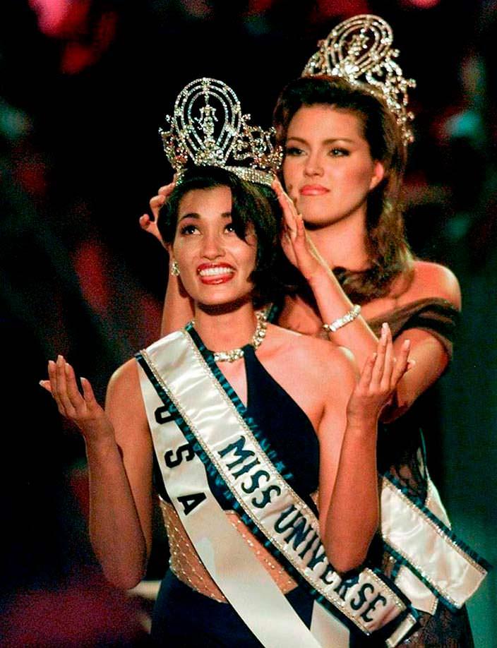 Мисс Вселенная 1997 Брук Ли и Мисс Вселенная 1996 Алисия Мачадо