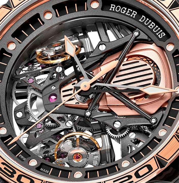 Швейцарские часы скелетоны Roger Dubuis Excalibur Aventador S