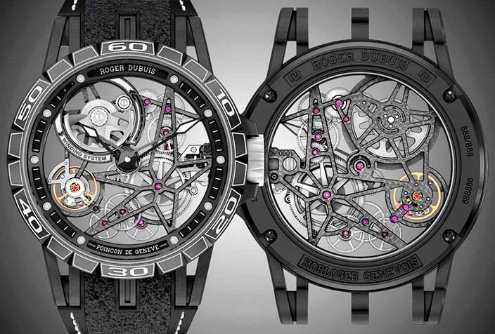 Часы-скелетоны Roger Dubuis Excalibur Spider Pirelli