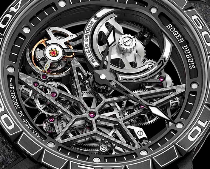 Швейцарские часы скелетоны Roger Dubuis Excalibur Spider Pirelli
